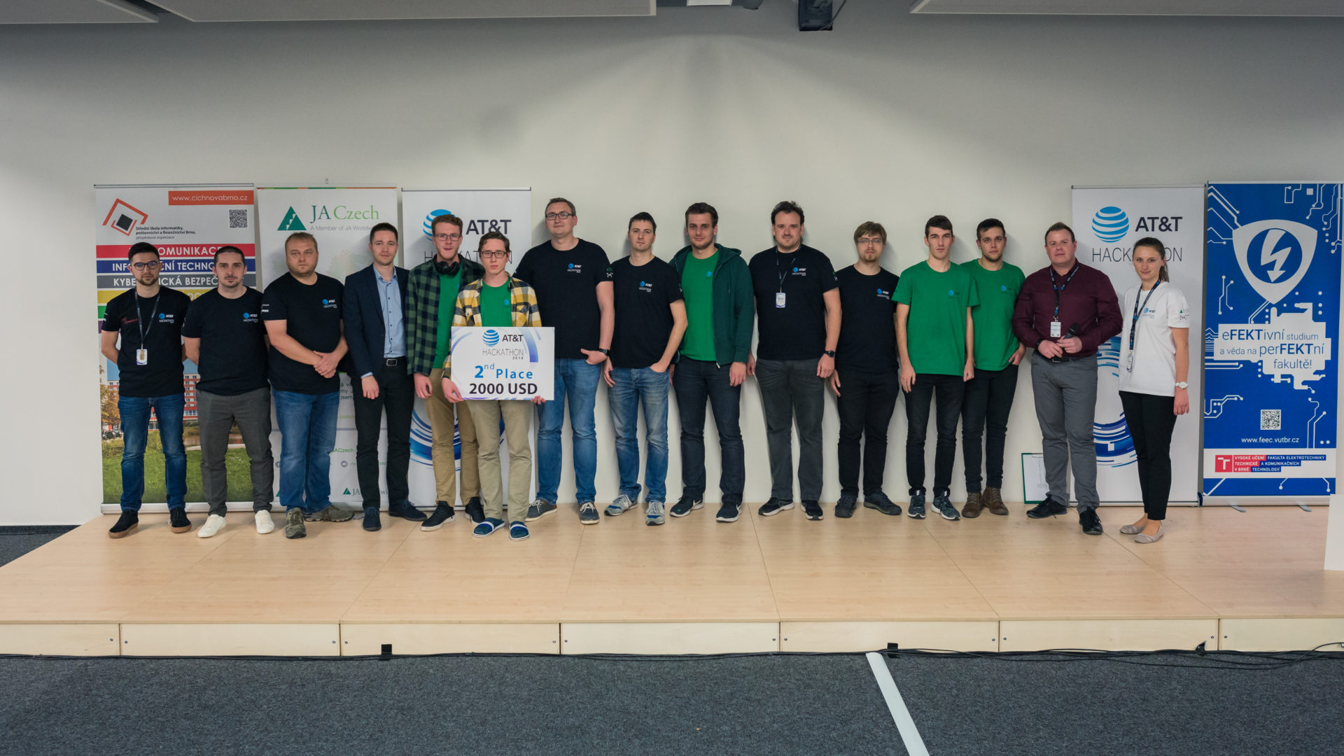 "AT&T Hackathon 2019, Brno Czech Republic, 2nd place ""Grep anebo nic"" team"