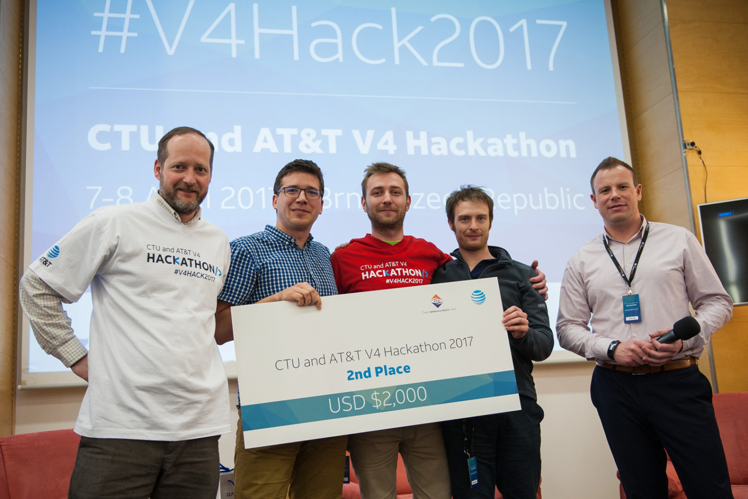 V4 Hackathon 2017 Brno Holiday Inn Winners 2nd place