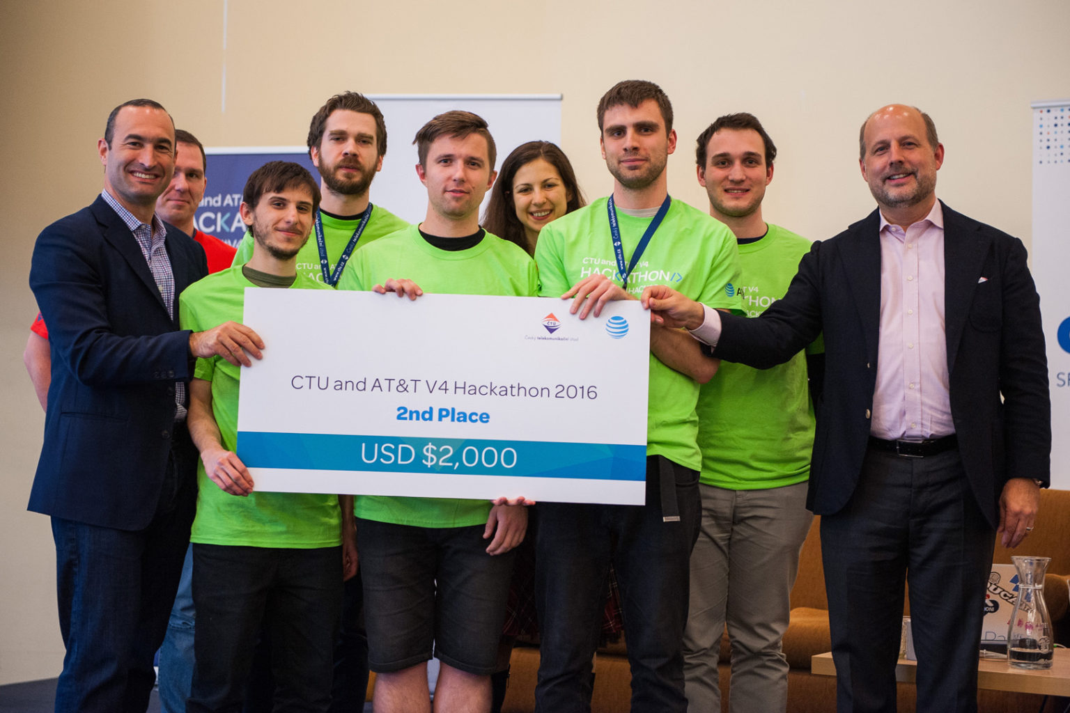 V4 Hackathon Prague 2016 winners 2nd place