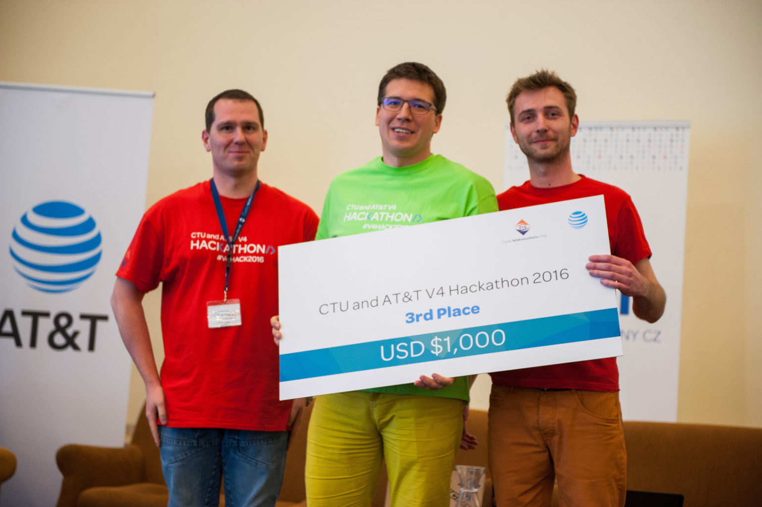 V4 Hackathon Prague 2016 winners 3rd place